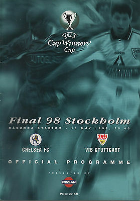Chelsea v VfB Stuttgart - Cup Winners Cup - Final - 13th May 1998