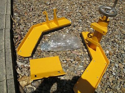 Motorcycle chock stand for air hydraulic lift platform ramp trailer table hoist