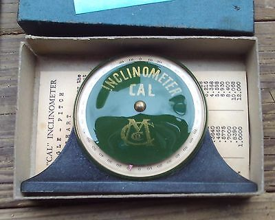 Vintage Inclinometer by Cal Machine Co. Excellent Condition