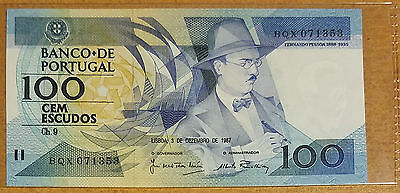 Portugal 100 Escudos 1987 In UNC Condition P-179 Banknote