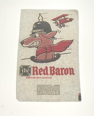 Five Vintage Mister Softee Iron On Transfers The Red Baron Dog Airplane