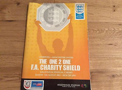 Liverpool v Manchester United FA Charity Shield programme 12th August 2001