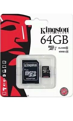 Kingston 64Gb Sdxc Micro Sd Card Memory Uhs-I Class 10 For Camera Mobile Tablet