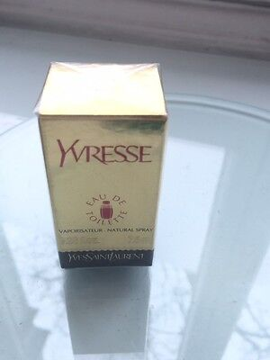 NEW Vintage MINT SEALED BOX YSL YVRESSE (CHAMPAGNE) Perfume EDT 7.5ml