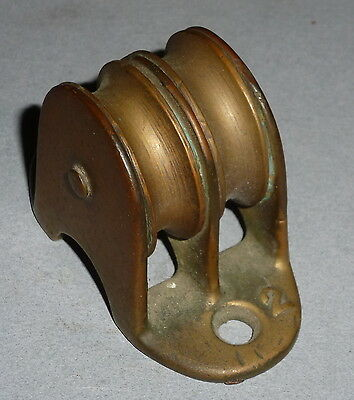 Antique Brass Ship's Double Pulley