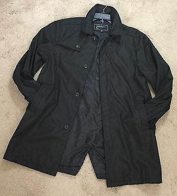Young Men Hawke & Co Outfitters Button Front Trench Jacket Black Sz  18 / 20