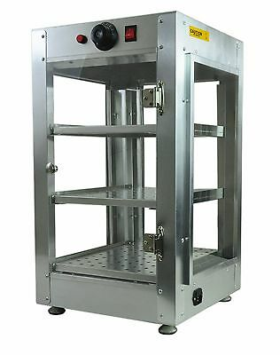 Commercial 14x14x24 Countertop Food Pizza Pastry Warmer Display Cabinet Case 03