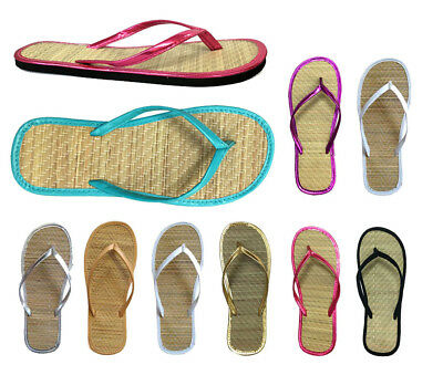 Wholesale Lot 48 pairs Women's Bamboo Flip Flop Sandals 8 colors