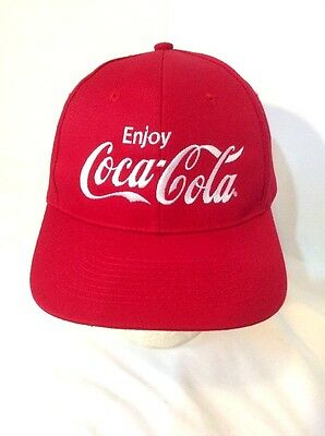 Enjoy Coca Cola Red Embroidered Snapback Hat