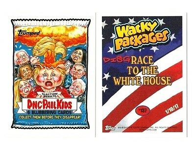 "2017 Wacky Packages/garbage Pail Kids Disg-Race ""dnc Pail Kids"" #137 In Stock"