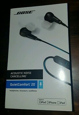 Bose QuietComfort 20 Noise Cancelling Headphones for Apple Devices Black