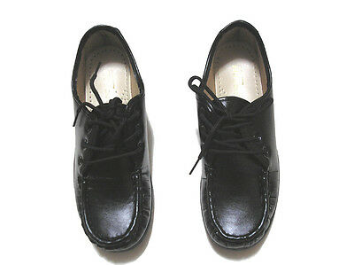 Work Slip Resistant Women's Black Leather Loafers Shoes Size 8 Item 4287
