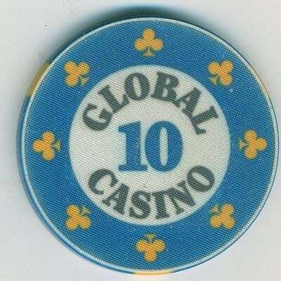 10 denomination chip from the Global Casino, Moscow, Russia