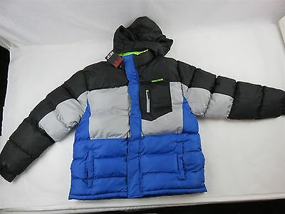 NORTHERN EXPLOSION MEN'S INSULATED WINTER COAT Black/Blue Size XL