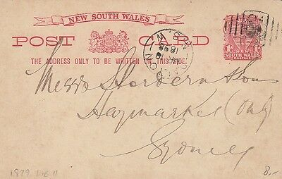 Australia NSW 1898 Used Postcard as shown - 2 scans