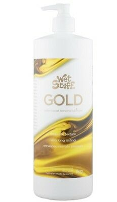 WET STUFF GOLD PERSONAL SEX LUBRICANT 1kg PUMP Toy Safe - EXPRESS DELIVERY
