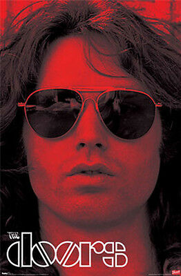 """The Doors Red Jim Morrison with Sunglasses Poster 24"""" x 36""""  Free US Shipping"""