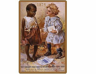 1875 Fairy Soap Ad Black Americana  NEW Reproduction  Refrigerator Magnet