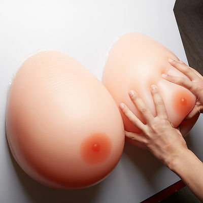 2X Silicone Artificial Boobs Fake Breasts Drag Queen False Breast Form B/C Cup