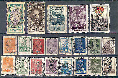 Russia (USSR) - A group of old used stamps from 1923-33. CV=22.15