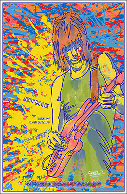 JEFF BECK 2010 Signed Original Tulsa OK Brady Theater Concert Poster
