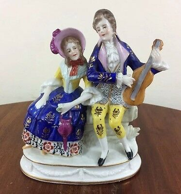 Fabulous Capodimonte Figural Grouping, Courting Couple with Violin