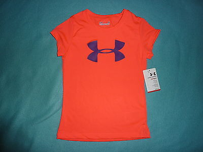 NWT Under Armour Girls T-Shirt Top Tee Size 4 Kids/Children/Youth