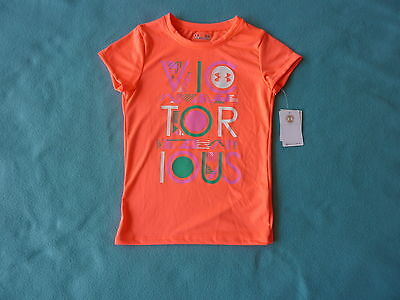 NWT Under Armour Girls T-Shirt Top Tee Size 6X Kids/Children/Youth