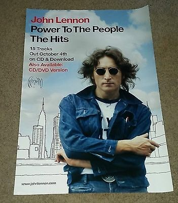 "John Lennon Power To The People The Hits Poster HUGE 20""x30"""