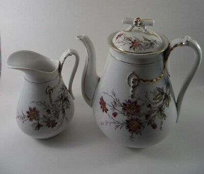 Karlsbad BDB Porcelain Teapot and Pitcher Marked