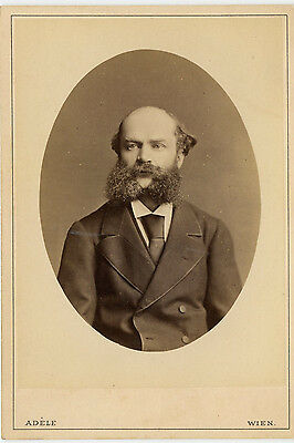 Vintage Cabinet Card Camille Saint-Saëns French composer, conductor Adele Photo