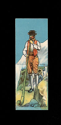 "Bargain Day~~Typhoo 1928 ( Man & Animal ) Type Card "" Swiss Goatherd & His Goats"