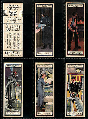 "Bargain Day ~~ Typhoo 1928 Scarce ( Occupation ) 25 Card Set "" Whilst We Sleep """