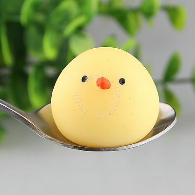 Kawaii Squeeze Chick Stress Reliever Decompress Kid Toy Round Squishy Gift