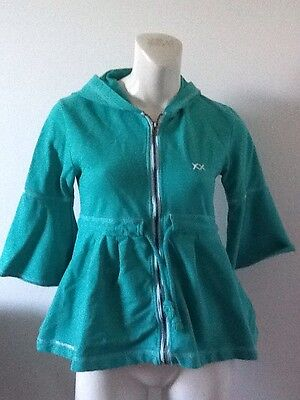 Project E Vintage Hooded Zip Up Drawstring Jacket Women's Size M
