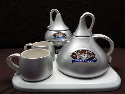 Vintage Hershey's Kiss Hot Chocolate Pot & Fondue Set Of 8 With Mugs & Tray Gift