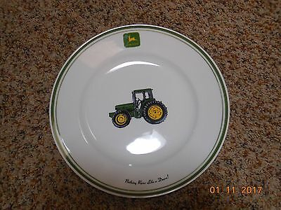 John Deere Licensed Dinner Plate 11 1/8 Inches By Gibson Tractor Large