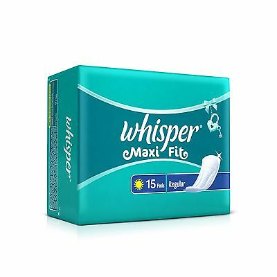 Whisper Maxi Fit for long lasting protection - Regular (15 Pads) | Free Shipping