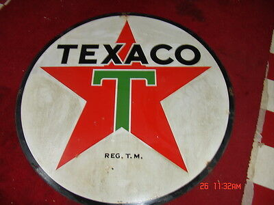 Texaco Porcelain Double Sided Original Sign
