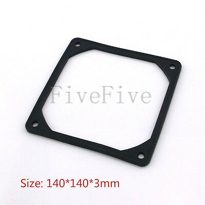 140mm PC Case Fan Anti Vibration Gasket Silicone Shock Proof Absorption Pad