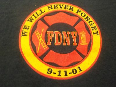 FDNY graphic we will never forget 9 11 01 M t shirt