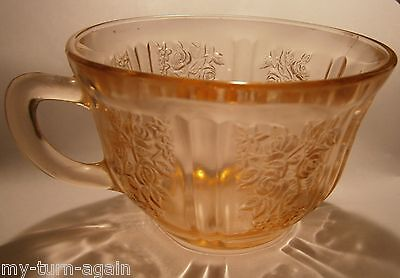 Vintage Pink Depression Glass Sharon CABBAGE ROSE Coffee Punch Tea Cup