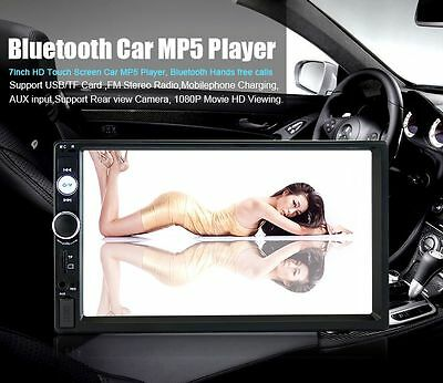 """7"""" Double 2 Din In Dash Stereo Car MP3 MP5 Player Touch Screen Bluetooth Radio"""