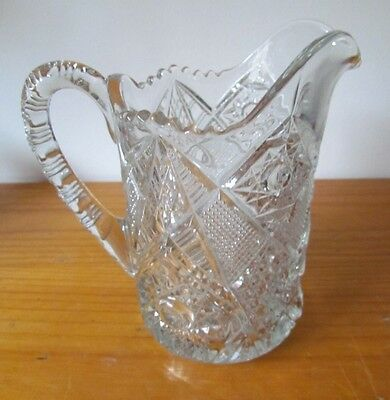 Vintage Crystal Glass Water Jug with Beautiful Patterns - Excellent Condition