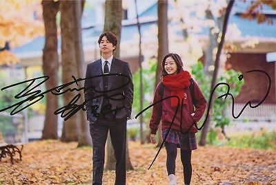 Signed Gong Yoo Kim Go Eun in-Album Goblin Photo Hand Autograph Authentic4x6inch