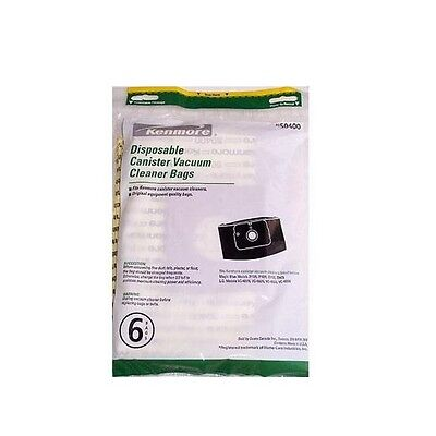 Kenmore & LG Canister Vacuum Bags, 6 count, model 50400