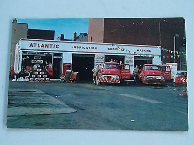 Vintage Gas Station Postcard Camden NJ TOW TRUCKS Wreckers