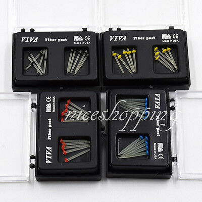 New 10 Pcs Dental Fiber Post Glass Set Refill Drill Thread Files 1.0/1.2/1.4/1.6