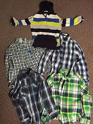 Lot of 5 Boys Clothes - Size Large - Button-Down Shirts Abercrombie and More