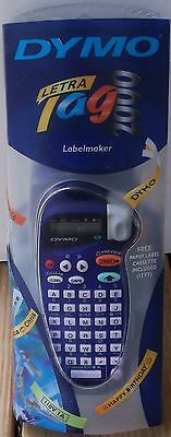 Dymo LetraTag Electronic Label Maker Blue BRAND NEW with some wear on outer box